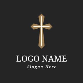 simple brown cross